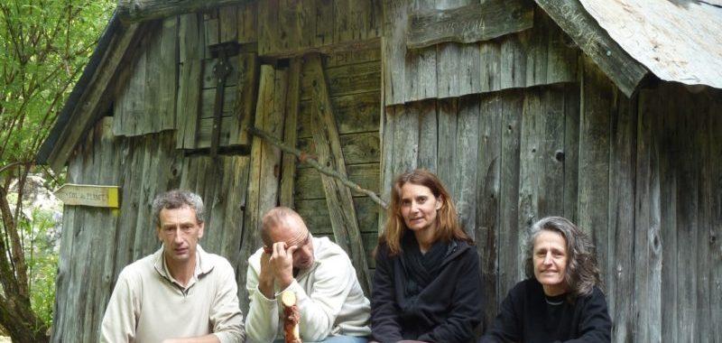 Philippe, Pascal, Karine et Claire en reco à l'Outhéran